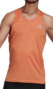 adidas Own The Run Mens Running Vest - Orange