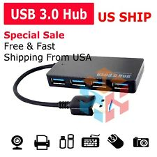 Ultra Slim USB 3.0 4-Port Data Hub Super Speed Transfer up to 5 Gbps For PC Mac
