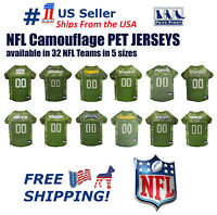 NFL Camouflage Jersey for DOGS & CATS Licensed, NEW! 32 Teams/ 5 Sizes available