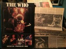 THE WHO 1980 AMERICAN TOUR PROGRAM BOOK~QUADROPHENIA~TOWNSHEND~DALTRY