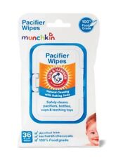 New Munchkin Arm & Hammer Baby Pacifier Wipes 4 Packs of 36 wipes each