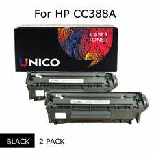 2-Pack CC388A Black Toner Cartridge HP Laser Printer M128fp M128fw M226dn P1007