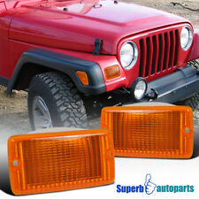 For 1997-2006 Jeep Wrangler Front Bumper Lights Signal Lamps Depo