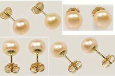 Antique Pearl 14ktGF Studs Ancient Persian Angel Tears Earrings