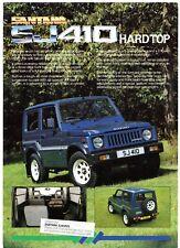 Suzuki SJ410 Santana Hard Top 1988-89 UK Market Brochure De Vente Brochure