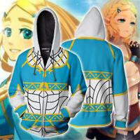 Women Men Cosplay Tops The Legend of Zelda Hoodie Sweatshirt Zip Coat Jacket