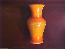 "IMPERIAL ART GLASS ""LEAD LUSTRE"" VASE, ORANGE COLOR, OUTSTANDING CONDITION"