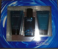 NEW Davidoff Cool Water Cologne Men's 3 Piece Gift Set 1.35 oz EDT Spray +