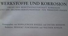 Werkstoffe Korrosion Materials Corrosion Korrosionschutz Forschung 21. Jg. 1970