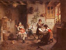 Seignac Paul The Reading Lesson artista quadro dipinto olio su tela a mano arte
