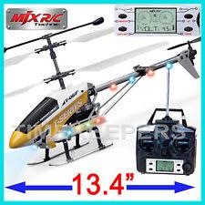 MJX t-05 LCD Pro Remoto Radiocontrol 3 Canal RC Gyro Metal Helicóptero Avión