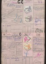 BELGIUM RAILWAY PARCELS 1960s MULTIFRANKING on PINK GRAND VITESSE DC1809..7 DIFF