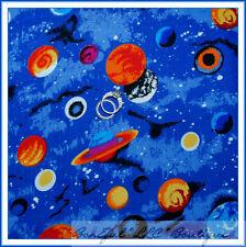 BonEful Fabric BT2Y Cotton Quilt Blue Dot B&W Sun Star Solar System Space Planet