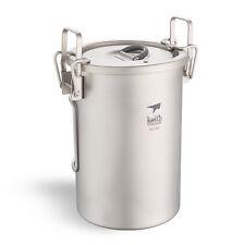 Keith 900mL Titanium Pot Multipurpose Titanium Rice Cooker  Lightweight Cookware