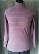 Vintage Lavender Turtleneck with Pale Yellow Stripes