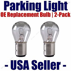 Parking Light Bulb 2 pack OE Replacement Fits Listed Dodge Vehicles - 198