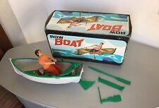 70s# VINTAGE ROW BOAT BATTERY OPERATED  WITH ORIGINAL BOX