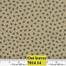 MODA HOME 100% cotton fabric by the yard - Leaves on OAT (beige) Small Print