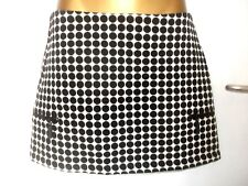 TOPSHOP PETITE BLACK & WHITE SPOTTY ZIP SKIRT U.K 10 NEW CHUNKY FIT