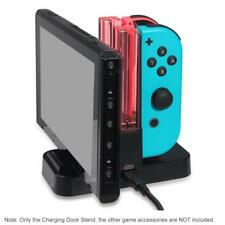 LED Charging Dock Station Charger for Nintendo Switch Joy-Con & Pro Controller