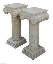 Colonne travertin et Marbre style classique Aniques Old Travertine colonne Table
