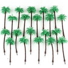 20pcs Coconut Palm Trees Model Train Beach Street Diorama Layout Scale HO 13CM
