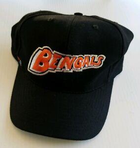 Cincinnati Bengals Team NFL Vintage Fitted 100% Wool Hat 7 1/2 Black 1990s Era