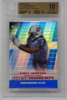 2008 Finest Moments Blue Refractors Chris Johnson/299 Rookie 🔥 Beckett 10