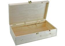Holzkiste mit Klappdeckel - naturbelassen - Box - Weinkiste - Holzbox