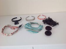 LADIES MIXED LOTS HAIR BANDS/ BUN HOLDERS. NEW/ USED.