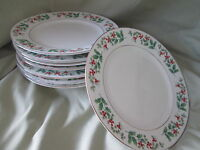 Gibson Christmas Charm SALAD PLATE 1 of 8 available have more items to this set