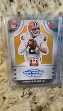 JOHNNY MANZIEL 2014 (BROWNS) Crown Royale Rookie Signatures Gold Plaid  /15 !