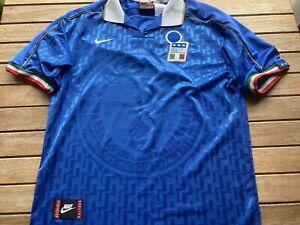 Italy Nike Football Shirt Maglia Retro Vintage 90s