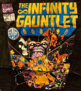 Thanos The Infinity Gauntlet XL X-Large T-Shirt Marvel Comics Black New