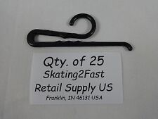 25 Qty. Black Plastic Non Slip Sock Hanger Clip Hook Retail Shopping Supply