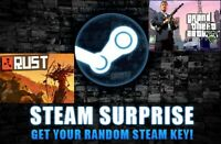 Random Steam Key      Best Games   [ CS:GO, GTA V, PUBG, RUST .. etc] +BONUS