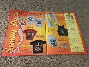 "1996 WWF Pro-Shop Catalog Print Ad ""SUNNY DAZE COLLECTION"" T-Shirt Beach Towel"