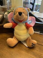 Disney Mouseketoys Tags Butterfly WInnie the Pooh Bean Bag Plush Easter 2000