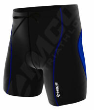 Zimco Elite Men Compression Triathlon Shorts Cycling Tri Short Swim Short Blue