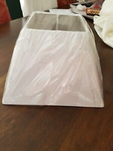 Lamp shades Square White fabric new in packaging suit bedside lamps