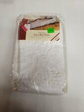 Vintage Battenburg Lace Bed Skirt King 1991 100% cotton