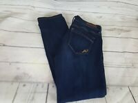 Express Blue Wash Skinny Fit Mid Rise Distressed Women Jeans Size 2S