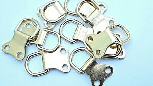 Picture Hanging Heavy Duty Brass D Ring 34mm x 22mm Canvas Hanger Hook FREE POST