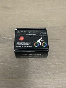New Activ Life LED Bike Wheel BlueLights w/ Batteries Included Get 100% Brighter