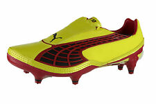 Puma v1.10 Mens Soft Ground Football Boots Red OR Yellow Colourway