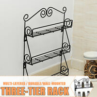 3 Tier Kitchen Bottle Spice Rack Jar Holder Storage Shelf Organizer Wall Mount