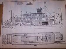 stern wheel river boat ship boat model boat plans