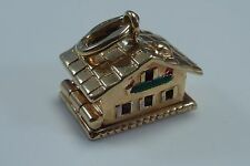 14K Yellow Gold House Charm with a Secret (Articulated)