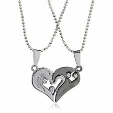 Pop Fashion I Love you split Shared  Pendant Necklace, Heart Symbol MSRP $17.99