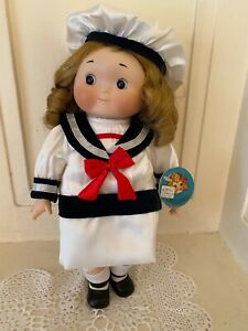 "Goebel Dolly Dingle Porcelain Musical Doll, Sailor, 14""T, Ltd. Ed. Series"